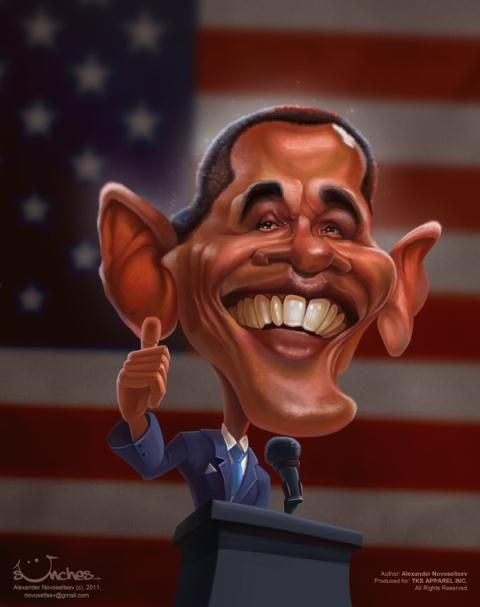 Caricatures for a B.Obama