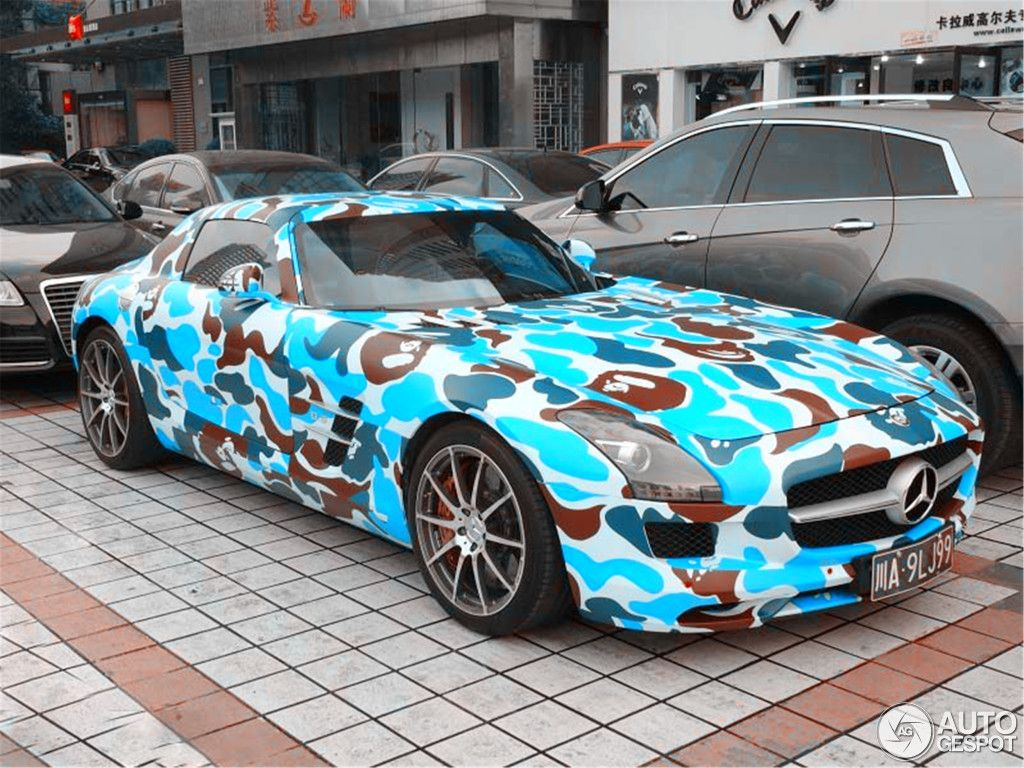 Crazy Benz Mercedes Benz Sls Amg Spotted In Cheng Du China