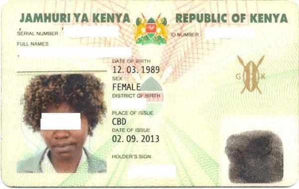 sample identity card unique kenya id card kenya national