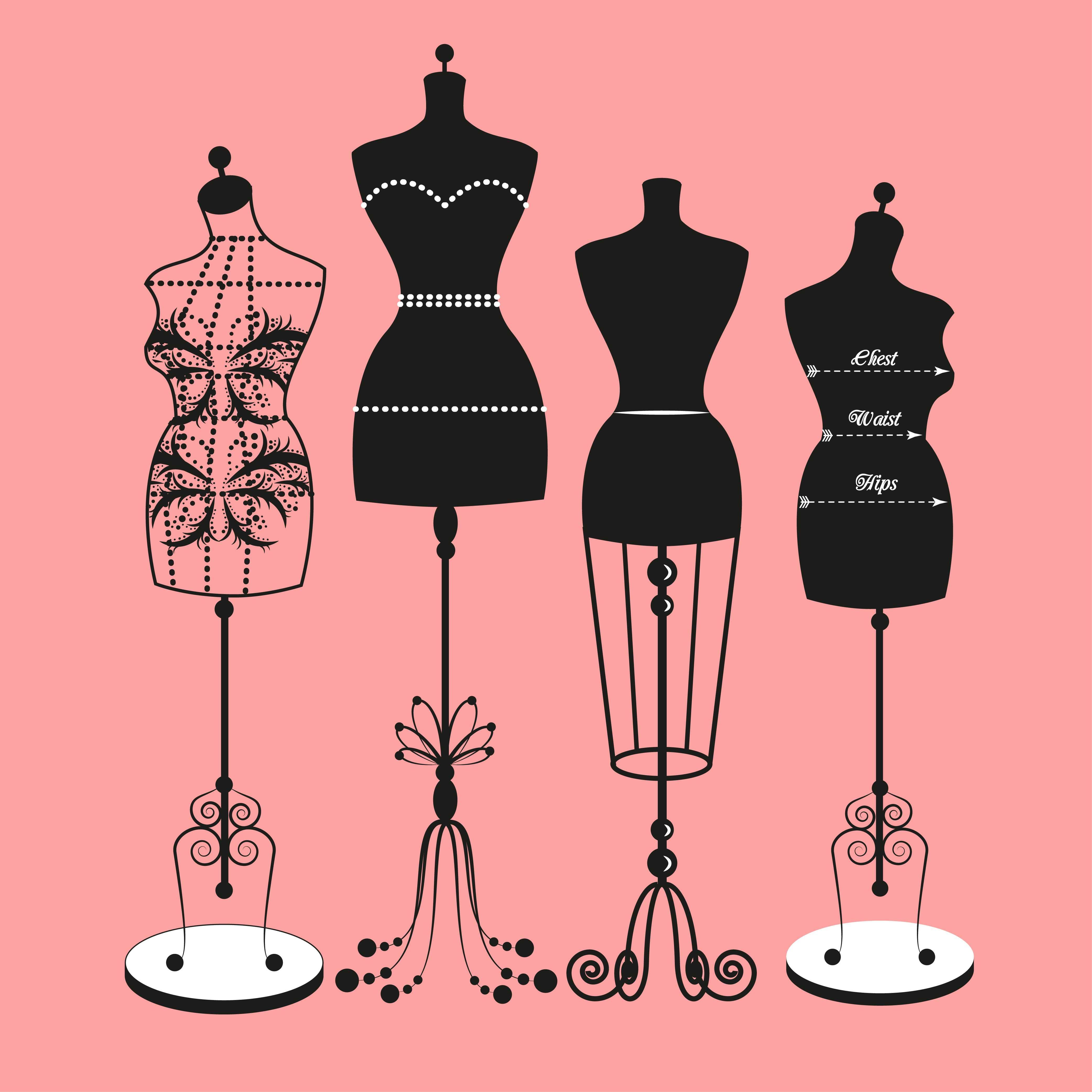 Kleiderständer clipart  Carreira: Modelista | Croquis, Vintage pictures and Bullet