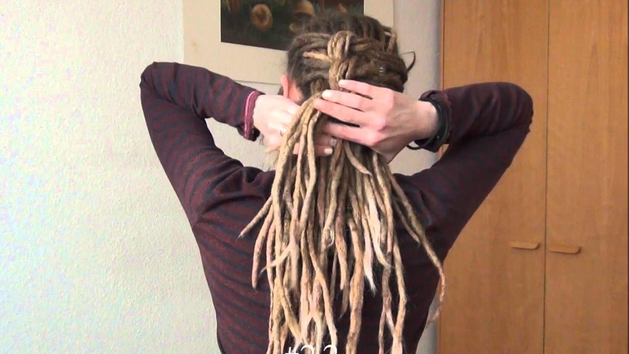 dreadlocks updo tutorial   my style   dreadlocks updo, hair