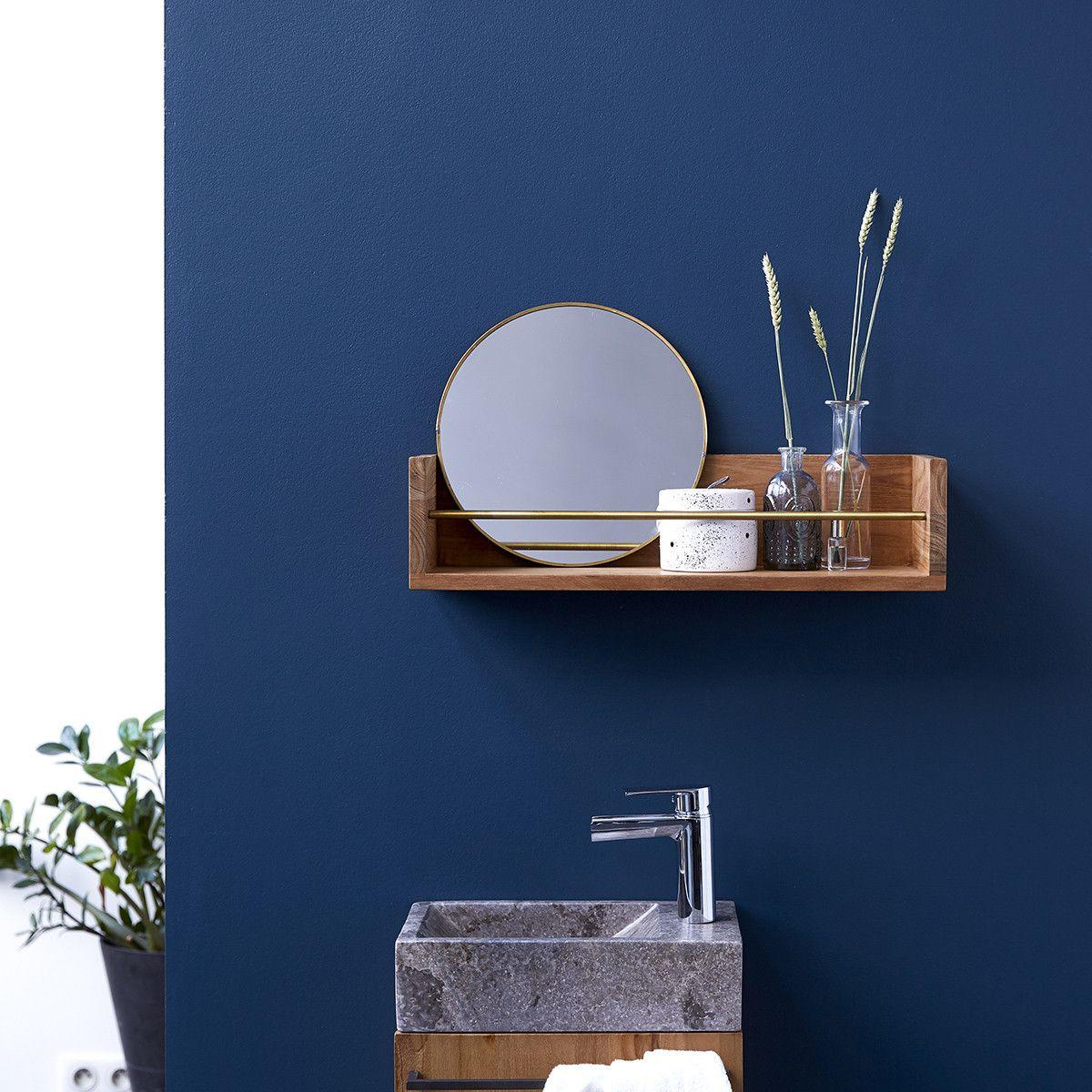 Sasha Teak Wood Bathroom Shelf 60 In 2020 Bathroom Wall Shelves