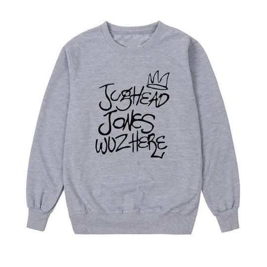 76bfee388 Jughead Jones Wuz Here Crewneck Sweatshirt Women South Side Serpents R –  uotelab