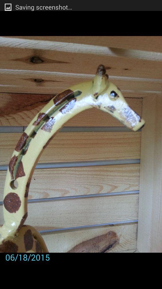 Giraffe · Horseshoe Art Giraffe Statue Garden ...