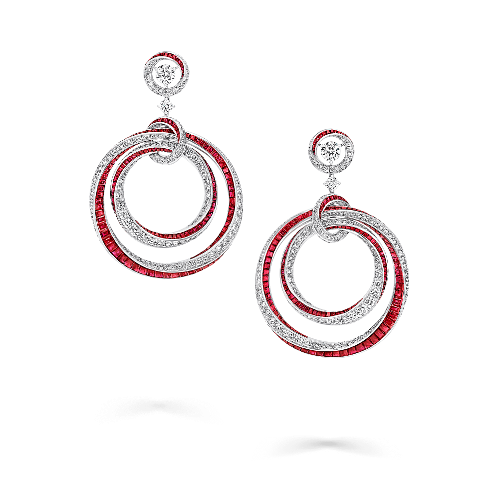 Spiral Multi Hoop Earrings Ruby And Diamond Graff Spiral Jewelry Blue Crystal Earrings Silver Circle Earrings