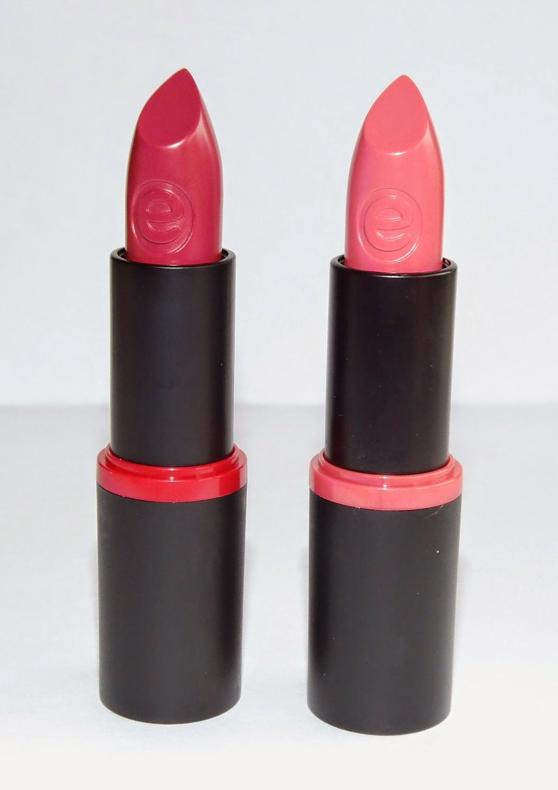 Essence lipsticks: love me and on the catwalk review + swatches