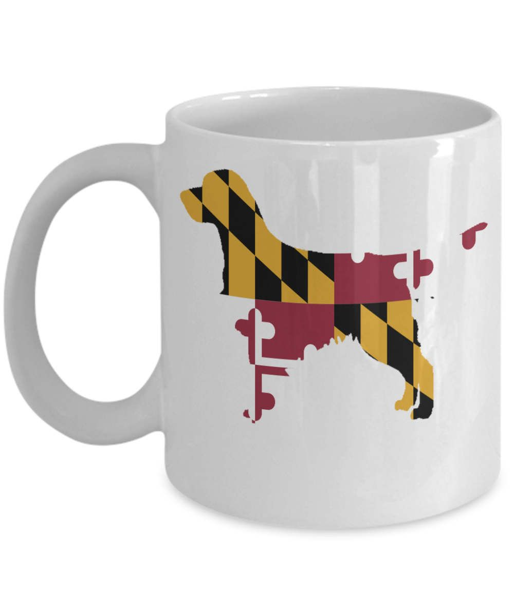 Golden retriever gifts for dog lovers maryland flag by