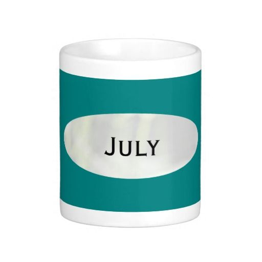 Month of July Teal Coffee Mug by Janz