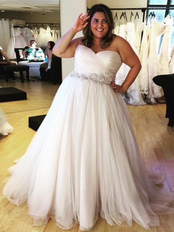 2018 Plus Size Wedding Dress Cheap Ivory Wedding Dress ...