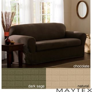 Reeves 2 Piece Stretch Loveseat Slipcover   Overstock.com Shopping   Big  Discounts On