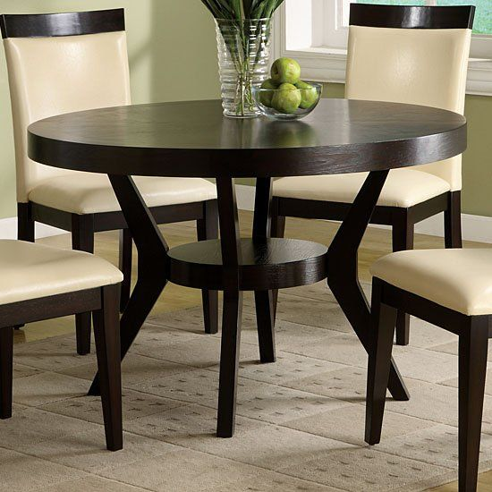 Furniture of America CM3423T Downtown Round Dining Table, Espresso