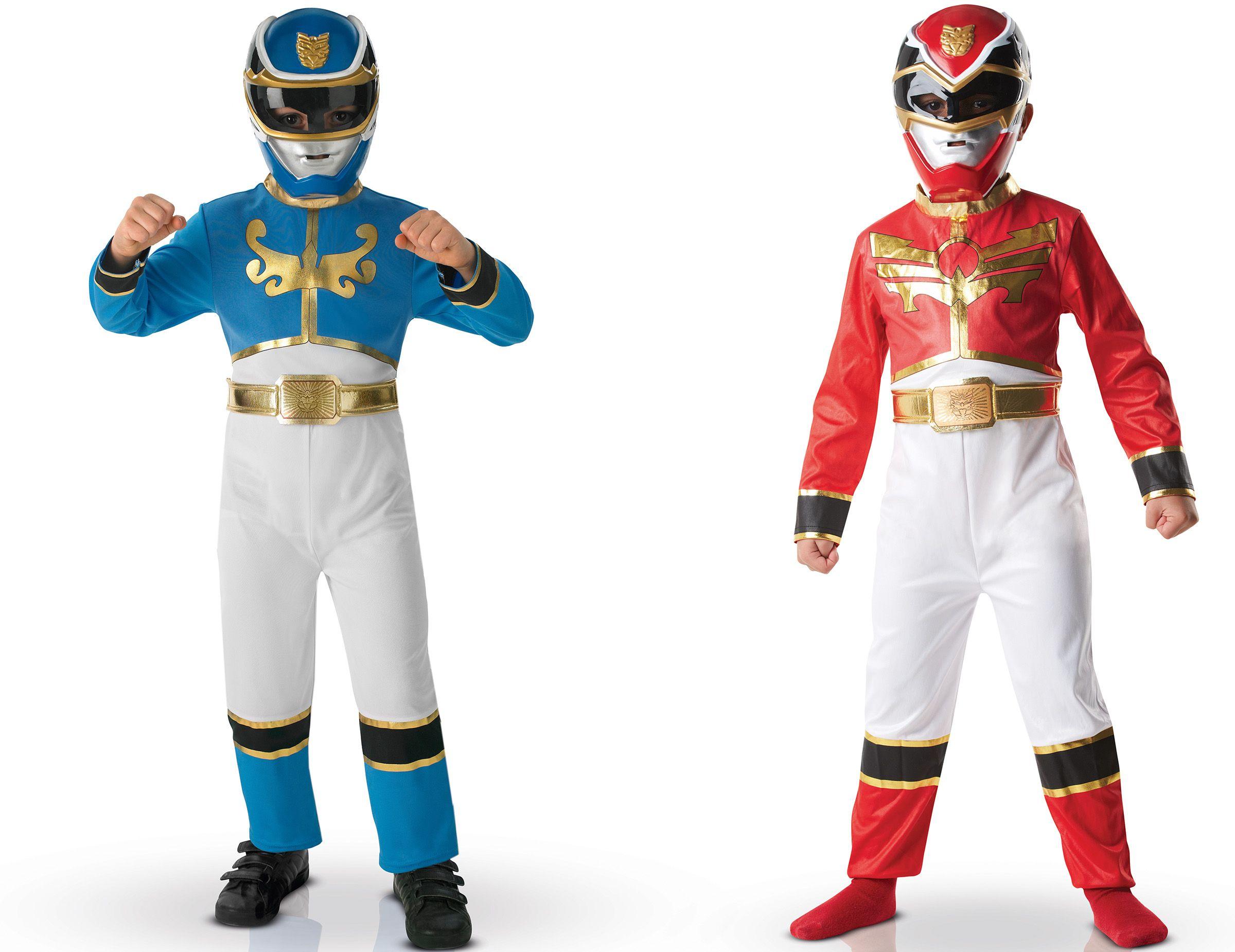 Pack Disfraces Powers Rangers Rojo Y Azul Nino Caja Este Lote De