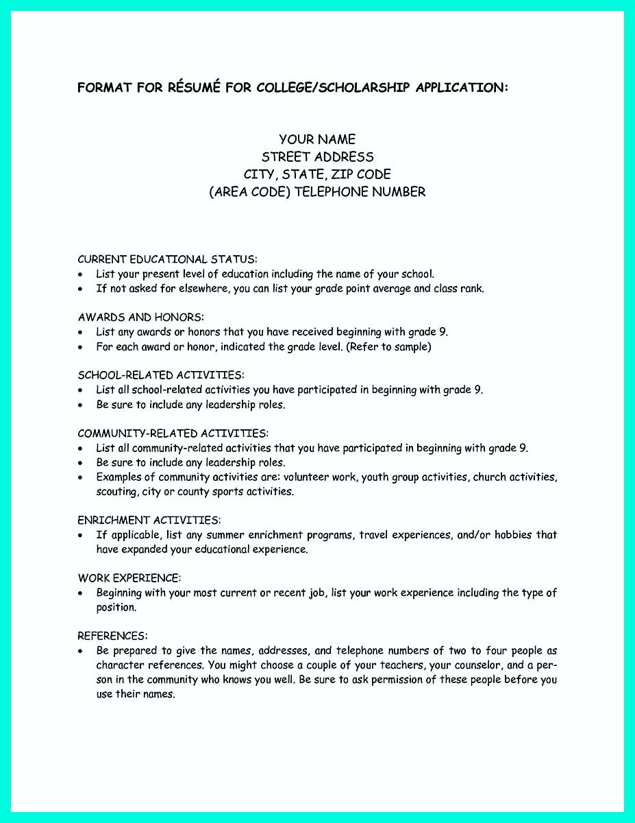 College Application Resume Examples Stunning Cool Write Properly Your Accomplishments In College Application .