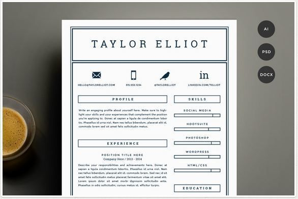 Marvelous Simple Resume Template
