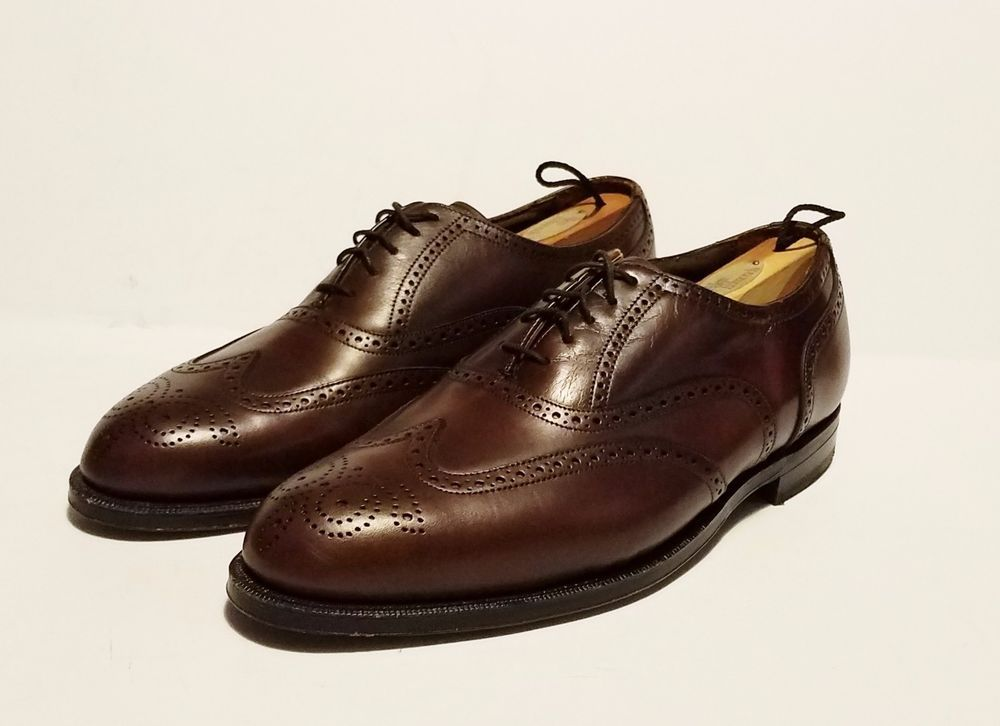 77013ea3c2d92 Florsheim Imperial Classic Wingtip Shoes Brown Leather Lace Up Size ...