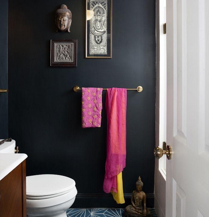 ▷ 1001 + astuces et idées d\u0027aménagement petite salle de bain 2m2 - salle de bain meuble noir