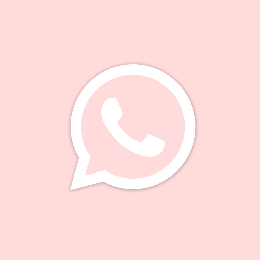 Pink Whatsapp Icon In 2020 App Icon Iphone Icon Apple Icon