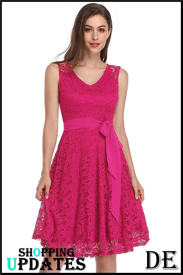 Damen Brautjungfernkleid für Hochzeit Abendkleider Elegant ...