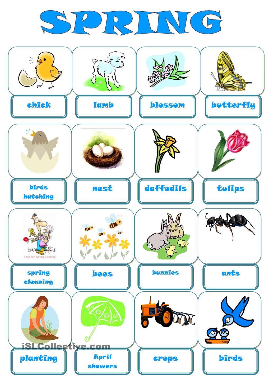 esl spring vocabulary - Google Search   ESL Teaching   Pinterest ...
