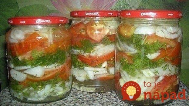 Bez zavárania: Nakladané paradajky s cibuľou v sladkokyslom náleve