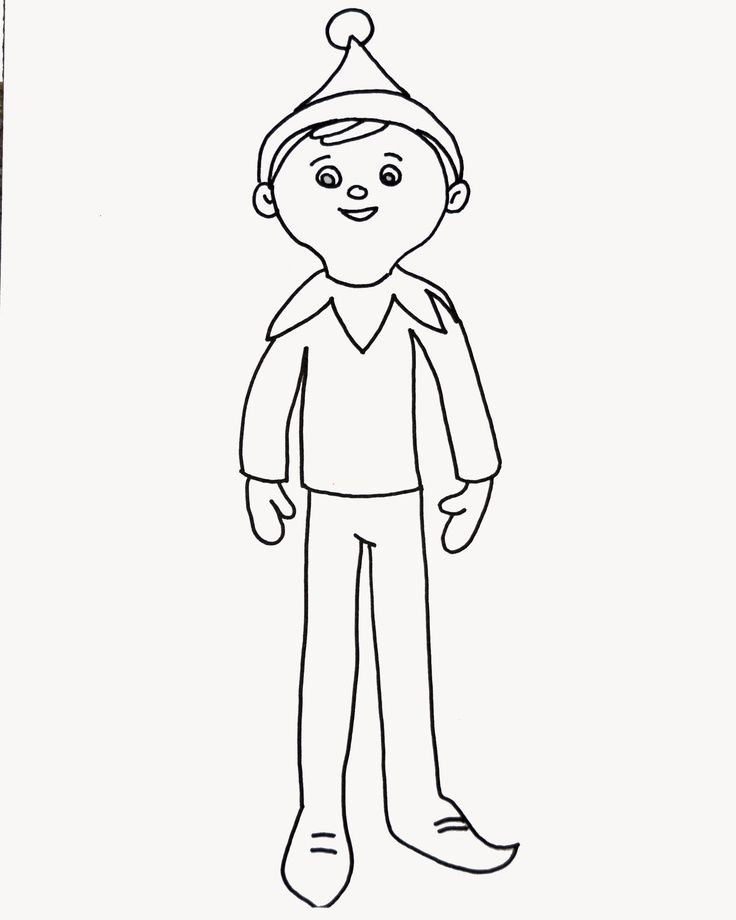 elves coloring pages to printy - photo#31
