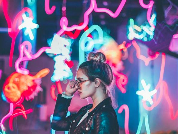 Neon Photography, Neon Photoshoot, Fairy