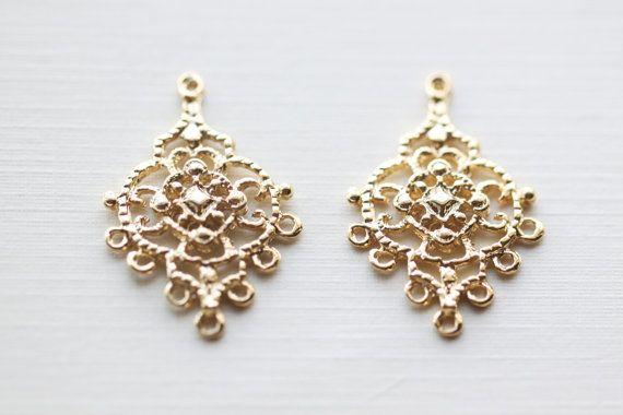 Sterling Silver Chandelier Parts Earrings Earwires 1Pair 5 Loop jewelry supplies