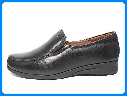 Minitoo , Damen Mokassins, schwarz - Leather-Black - Größe: 39