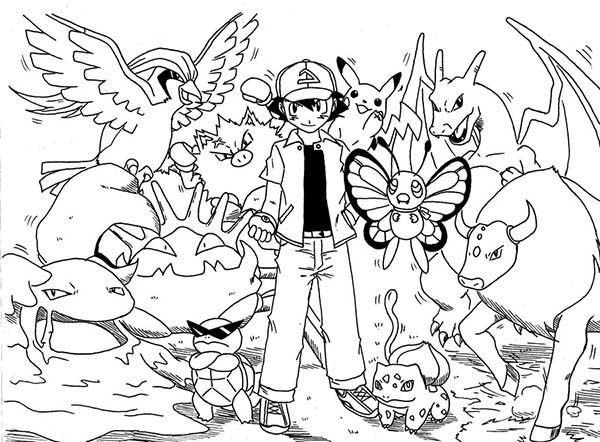 pokemon coloring page - Pokeman Coloring Pages