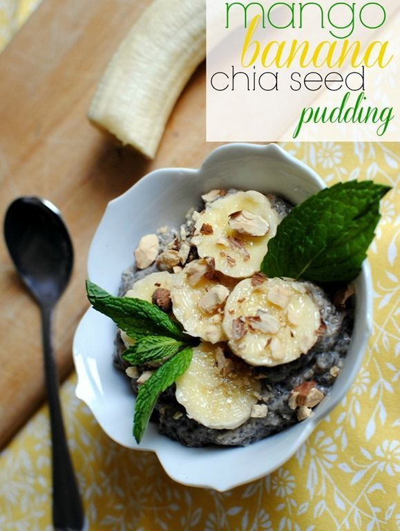 Mango Banana Chia Seed Pudding #chiaseedpudding
