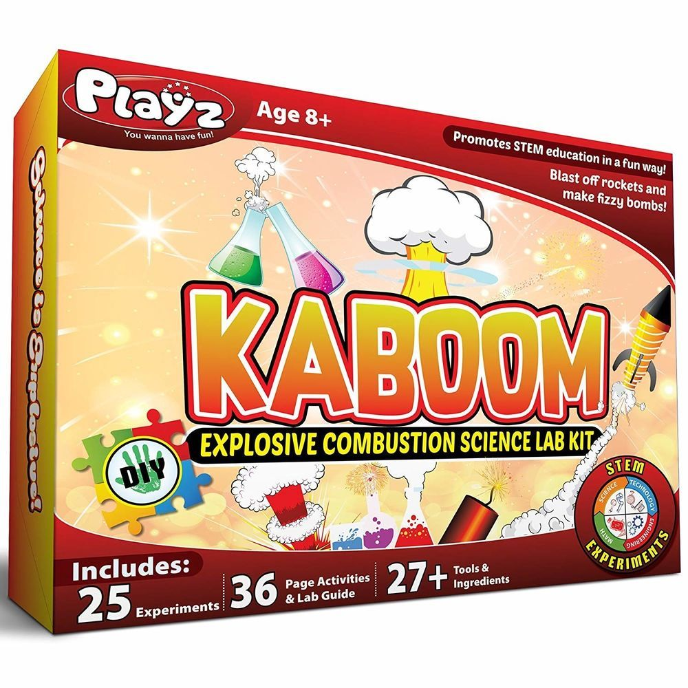 And Conductivity Science Kit 25 Electricity Details About Playz Kaboom Explosive Combustion Lab Stem Experiments Diy