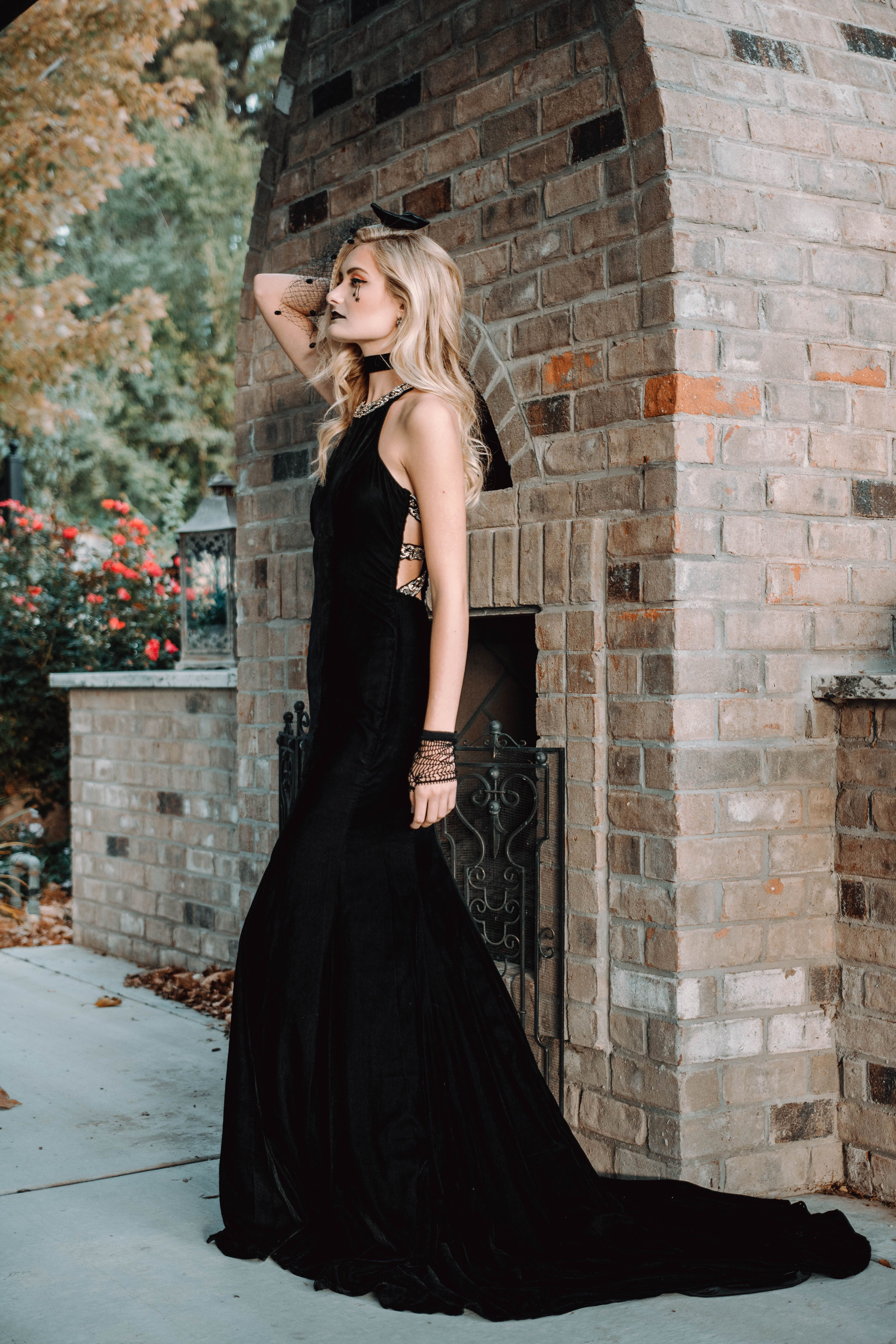 db1324e6d YPSILON DRESSES black fitted simple dress with beaded straps on back prom  pageant evening gown formal formalwear black tie red carpet event dress ...