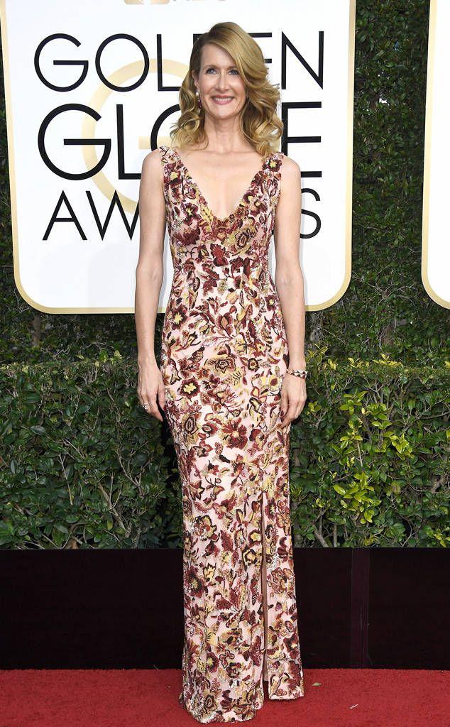 Laura Dern From 2017 Golden Globes Red Carpet Award Show Dresses Red Carpet Dresses 2017 Celebrity Dresses