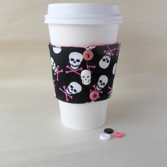 https://www.etsy.com/listing/215245211… #pink #pirate #pirates #skull #skullandbones #coffee #best #cozy #pirateprincess #latte #tea