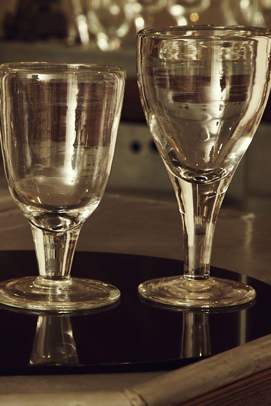 objets   verres à vin en verre soufflé   Glassware   Glass, Henry ... 6f4f70521628