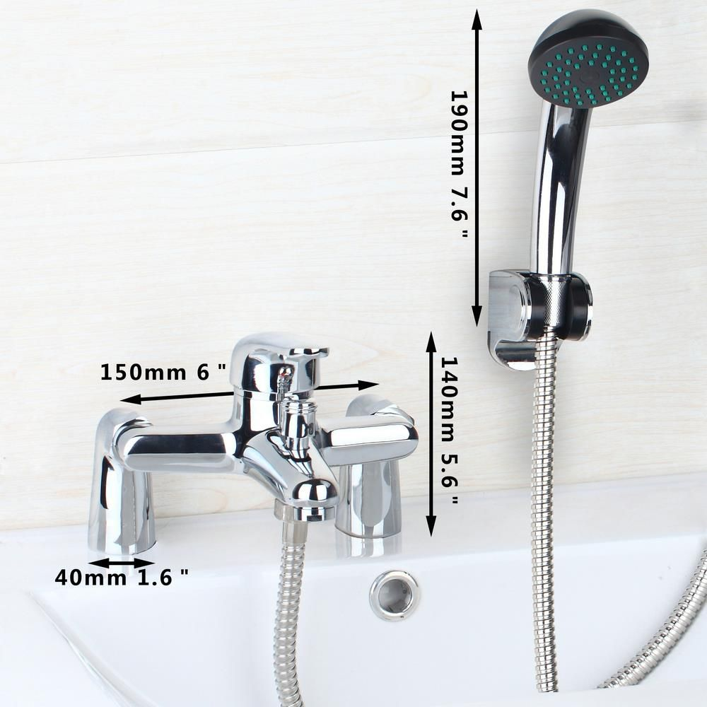 Hello Modern Bath Mixer Bathtub Faucet Set Torneira Da Banheira With Hand  Shower BathRoom Shower Deck Mounted