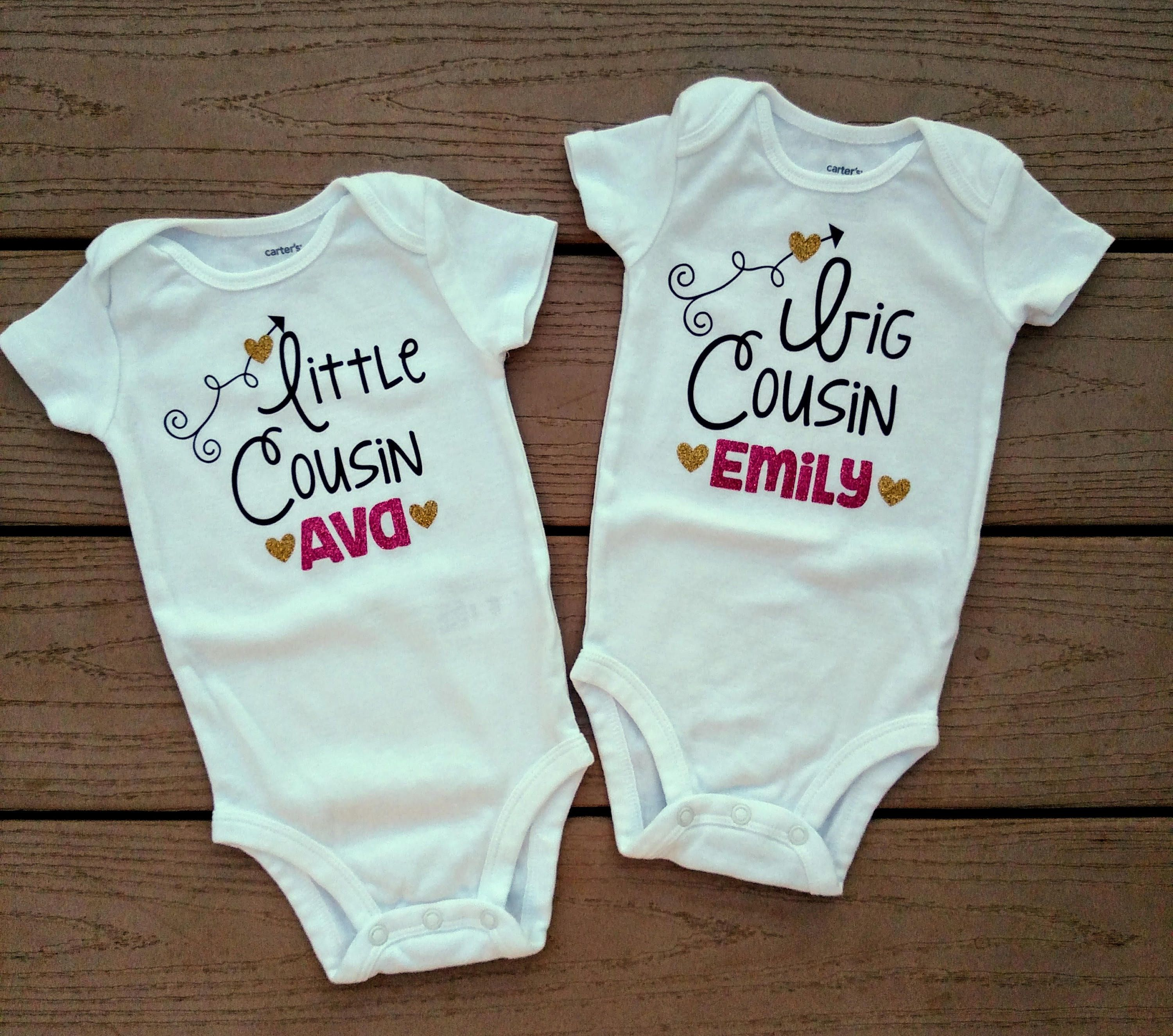 dcb05ba56 Big cousin little cousin onesies, personalized onesies, customizable onesies,  big brother little brother big sister little sister by LilBitsAndBigShots  on ...