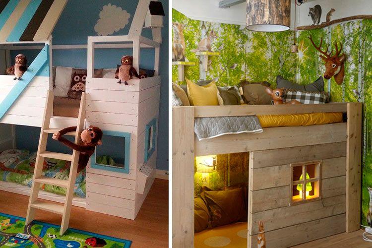 La cama kura en la decoraci n de habitaciones infantiles - Habitaciones dos camas decoracion ...