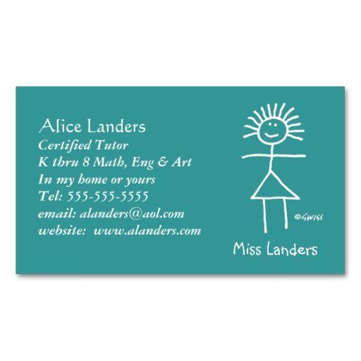 Elementary tutor teacher business card custom teacher business elementary tutor teacher business card custom accmission Image collections