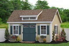 10x14 Premier Garden Shed With Dormer Traditional Sheds Rangement Jardin Plans D Abris Maisons Exterieures