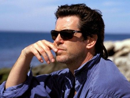 Pierce Brosnan - does studied nonchalance brilliantly! :D