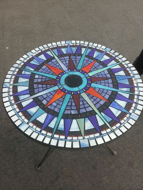 Stained Glass Mosaic Bistro Set.  GlassByRobbyNau  ...