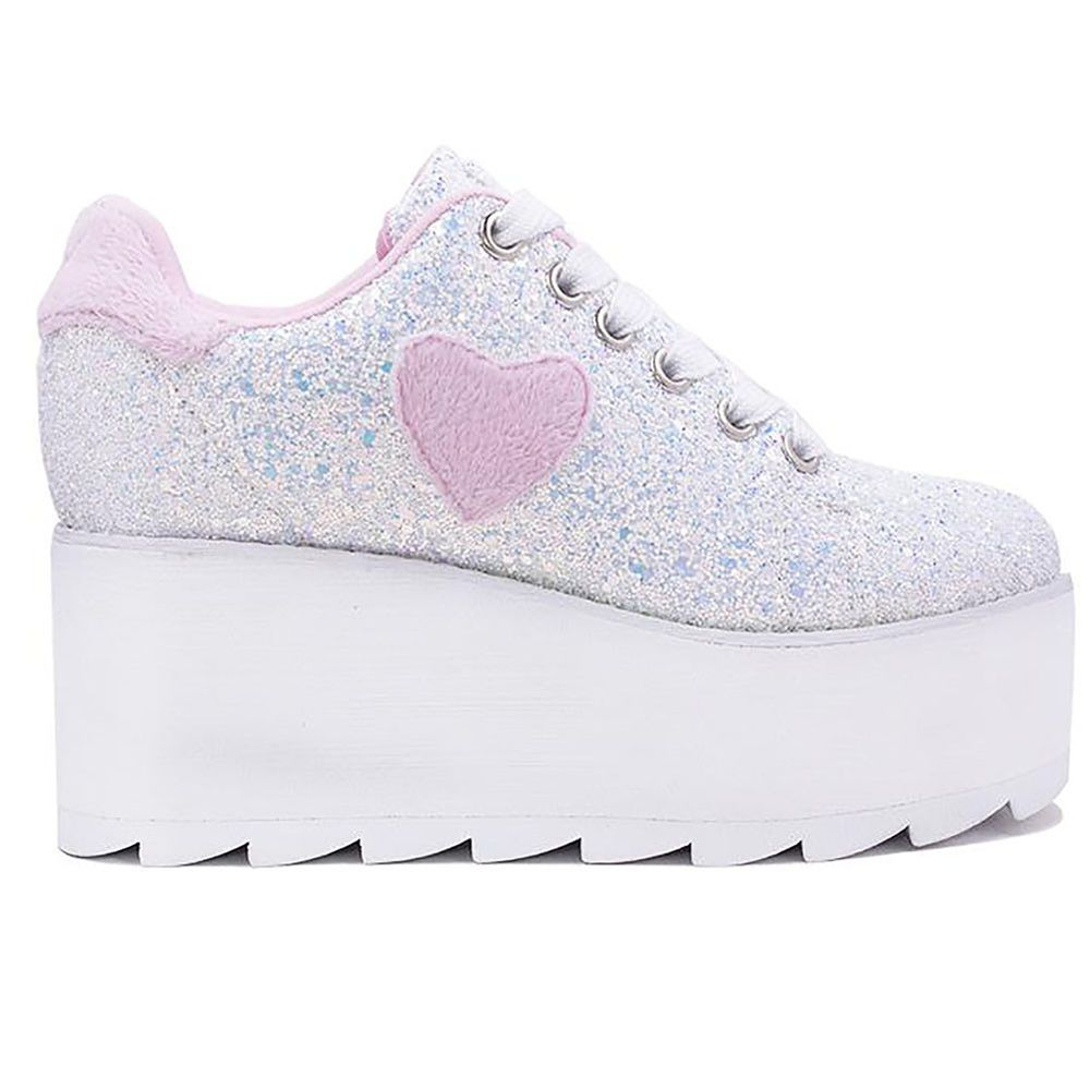 YRU LADIES SHOES NEW PINK HEART LALA