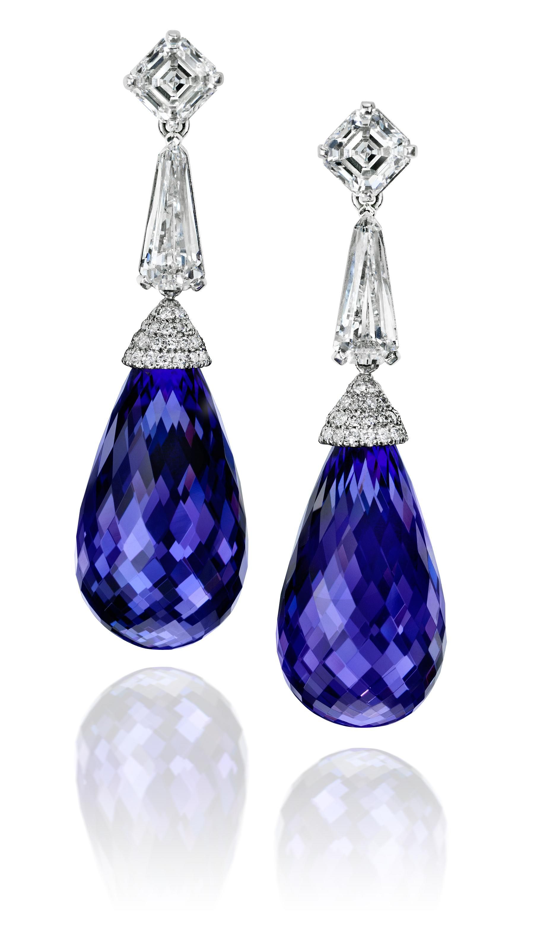 spear jewellery collections kata tanzanite kali earrings ice solo product