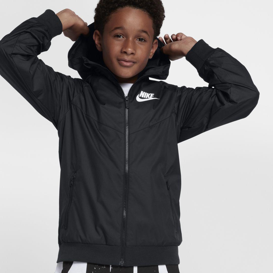 e5fc803460d3 Nike Sportswear Windrunner Big Kids  (Boys ) Jacket Size S (Black)
