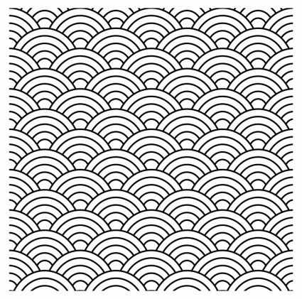 Seamless Fish Scale Pattern Vector Graphics