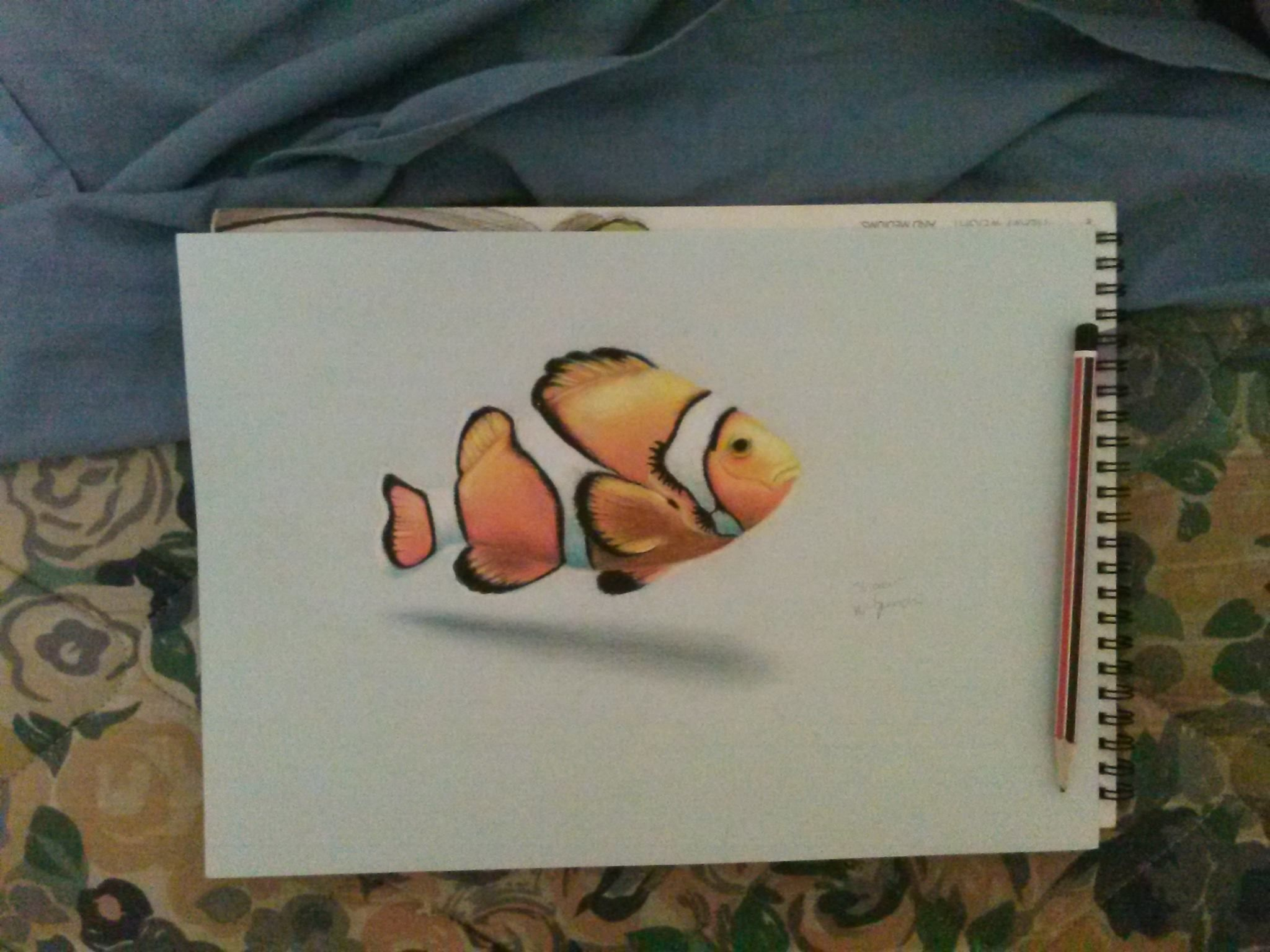 a colour pencil drawing of a fish my drawings pinterest
