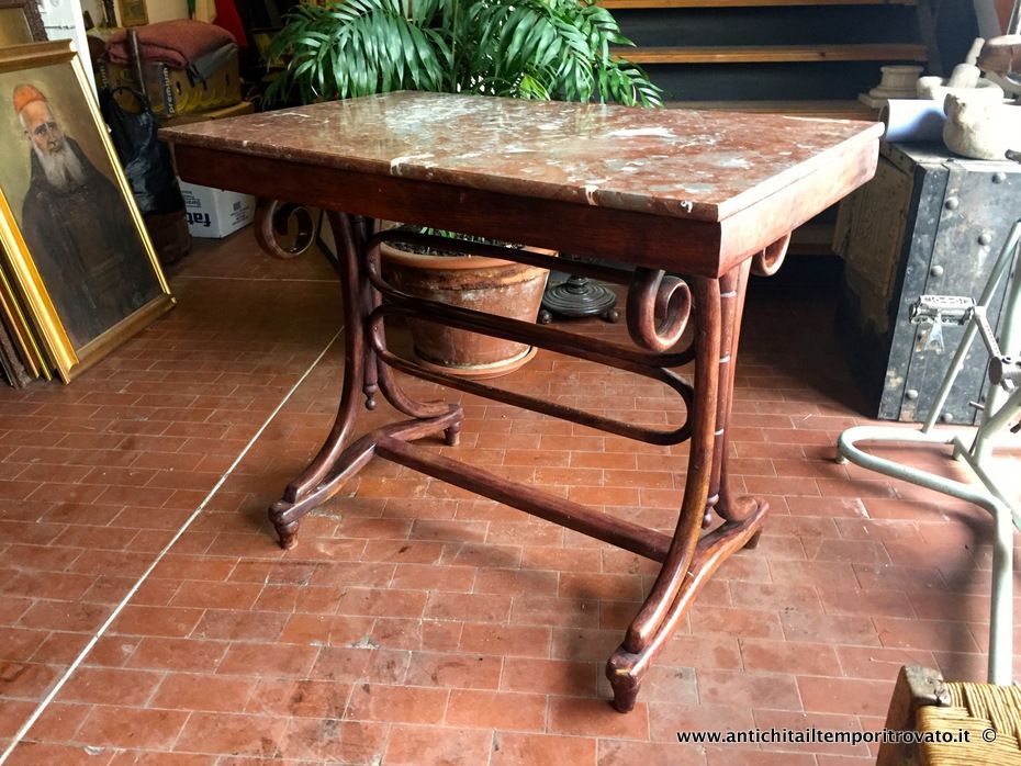 Mobili antichi tavoli e tavolini antico tavolo in faggio curvato a