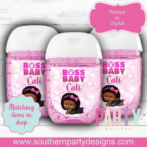 Boss Baby Hand Sanitizer Labels Stickers Boss Baby Favor Tags