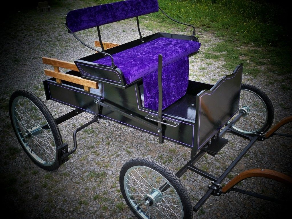 Details About Horse Drawn Buggy,cart,wagon,pony New Mini Runabout With  Brakes